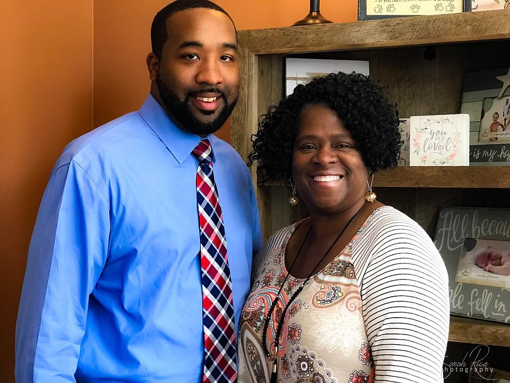 Photo of Mayor McTizic and Mary Wilson