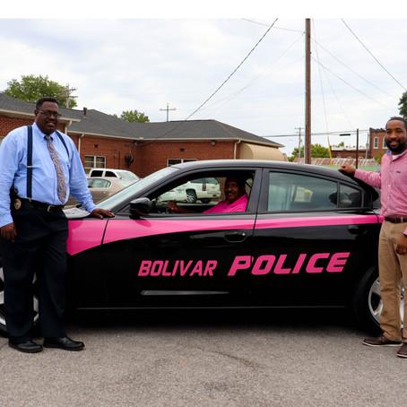 Bolivar Police Department Promotes Breast Cancer Awareness