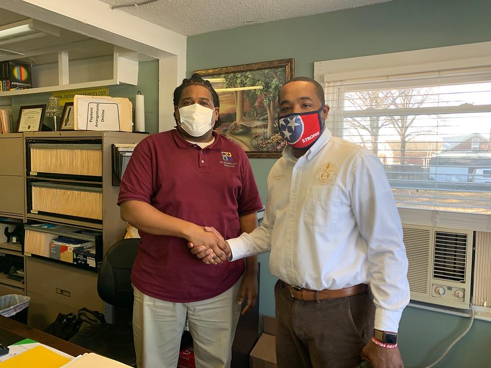 Photo of Mayor McTizic and Marcus Joy