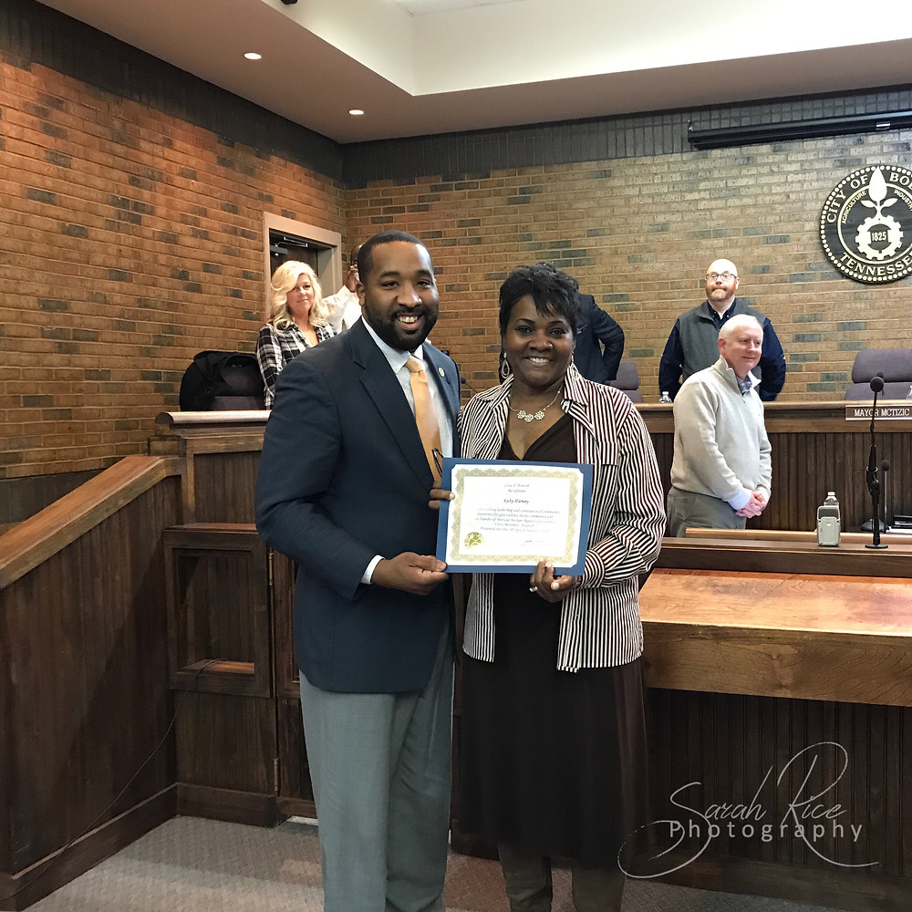 Photo of Mayor McTizic and Ruby Harvey