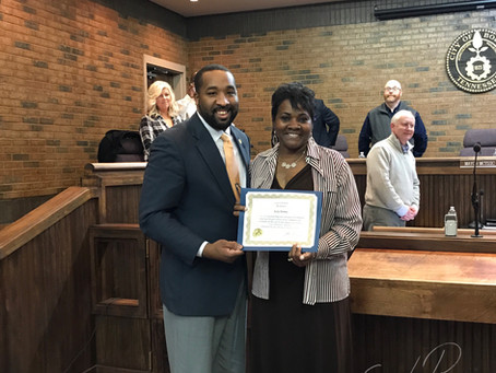 City Council Honors Ms. Ruby Harvey
