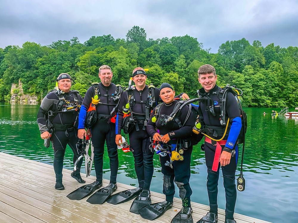 Photo of dive team