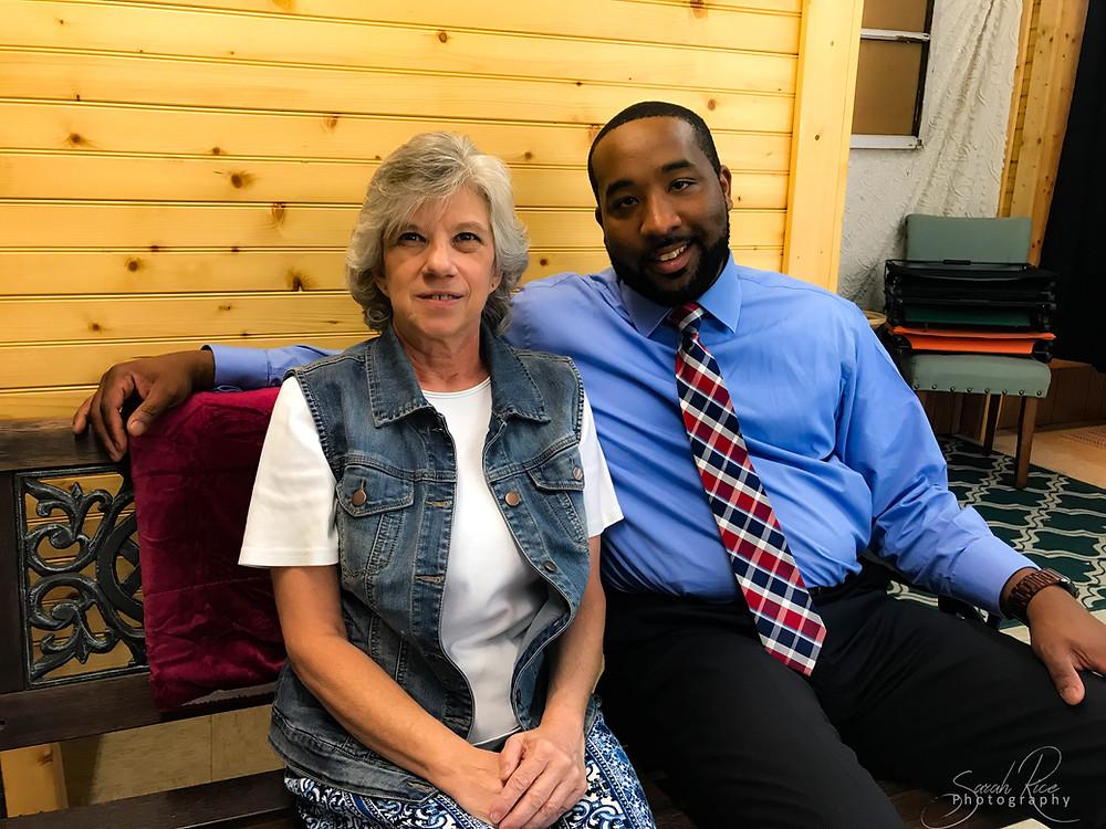 Photo of Karen Moore and Mayor McTIzic