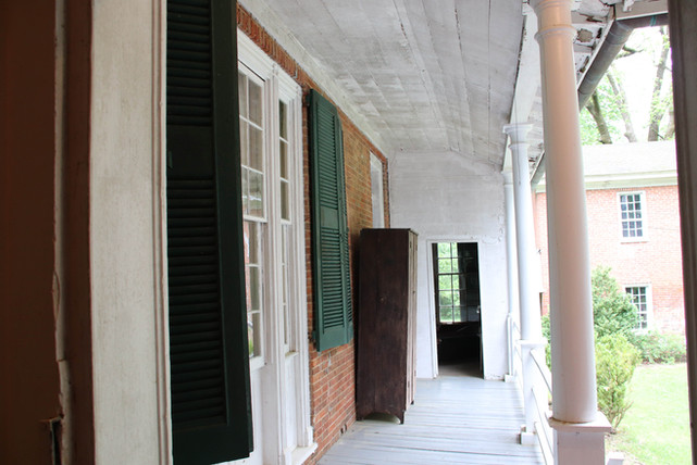 Photo of side porch at The Pillars