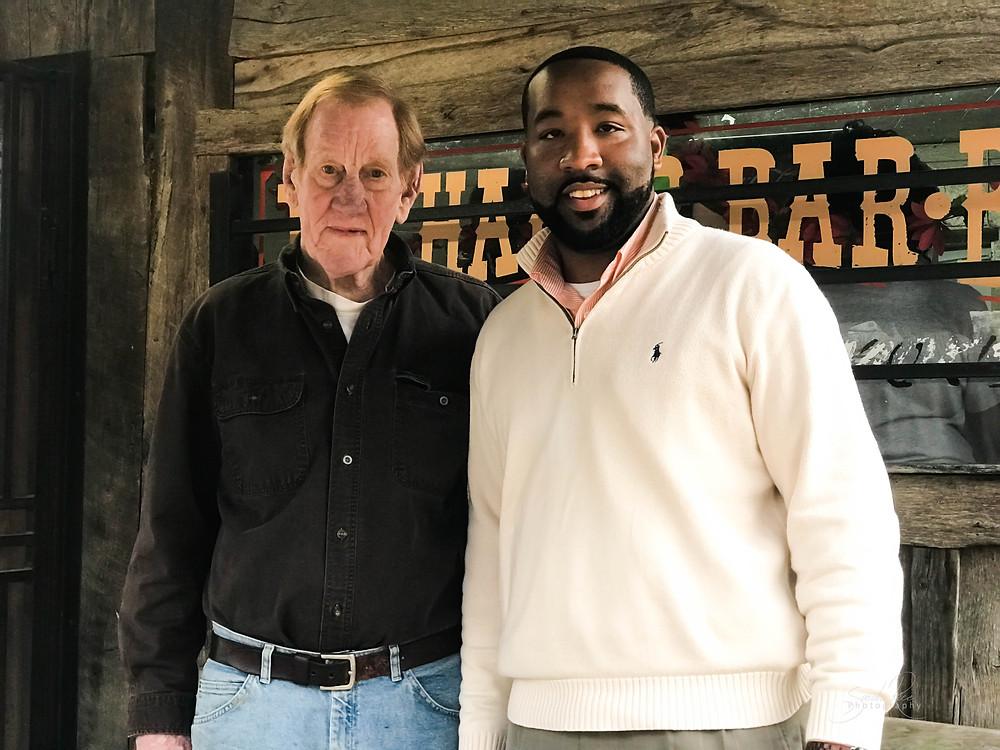 Photo of Richard Hodge and Mayor McTizic