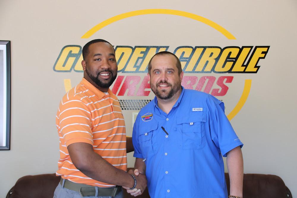 Photo of Mayor McTizic and Richard Vincent