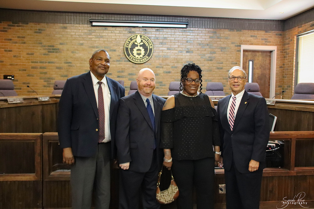 Photo of council members McKinnie, Lowe, Spinks, and Crawford