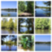 Collage of Sand Beach Lake photos