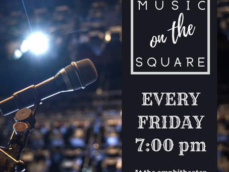 Music on the Square Releases Its 2021 Line-Up