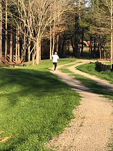 Photo of someone running in park