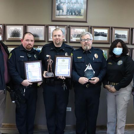 Bolivar Police Department Receives Awards