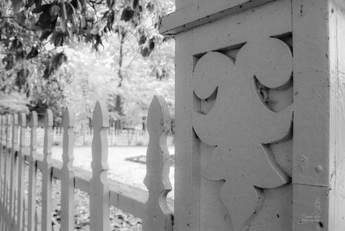 Photo of white fence