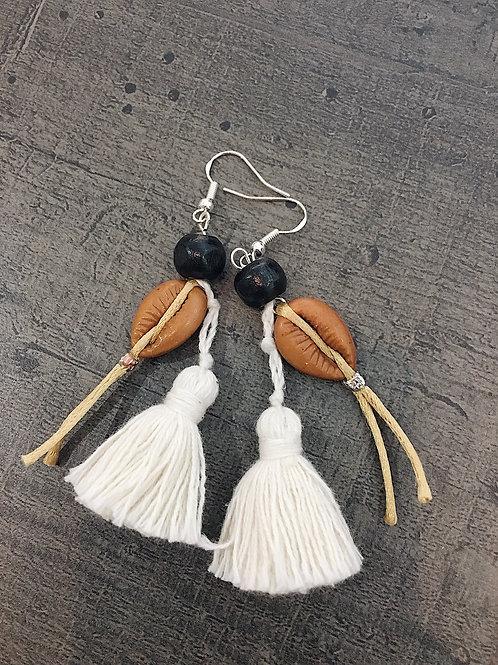 Boucles d'oreille à pompon