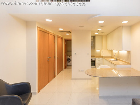 Studio apartment for rent in the Pearl for 6,500 Qar/Month. To know more call 44445499 or mail to in
