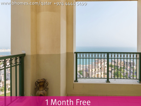 One Month Free Offer !! Rent a 2 Bedroom Apartment in Viva Bahriya -The Pearl for 12,000 Qar. To kno