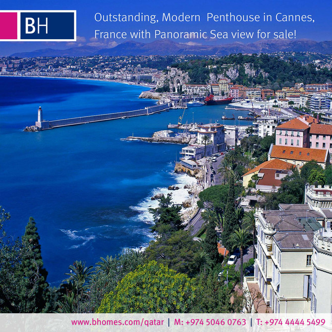 Luxurious, Modern & Outstanding Penthouse for Sale in Cannes, the  city located on the French Ri