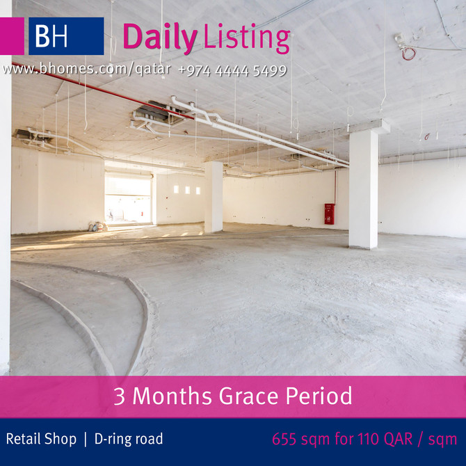 AVAIL THE GREAT OFFER FOR #SHOPS in D-Ring Rd. At new reduced price of 110 Qar / sqm. To Know more c