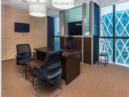 Are you looking for a spacious #OfficeSpace in #PalmTower? We have for rent 231.89 Sqm for 35,000 Qa