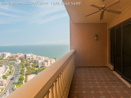 2 Bedroom apartment for rent in Porto Arabia for 14,000Qar/Month