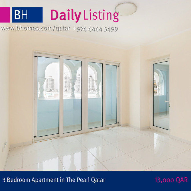 Beautiful 3 Bedroom Apartment for rent in Viva Bahriyah The Pearl.