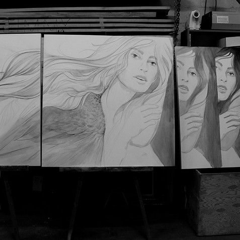 Large Triptych for LOKA