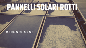 Sono rotti i vetri dei pannelli solari a San Lazzaro (BO)
