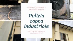 Pulizia e manutenzione della cappa del ristorante a Bologna.
