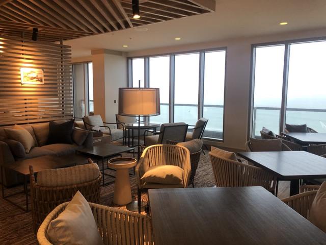 Marriott Oceanfront Virginia Beach  Club Lounge Ocean View