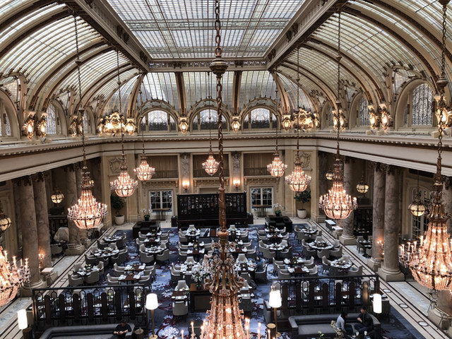 Iconic Palace Hotel Lobby San Francisco