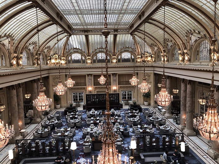 Iconic Palace Hotel lobby San Francisco.