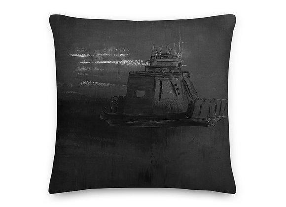 Black Drummond Island Ferry Pillow