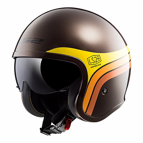 LS2 OF599 SPITFIRE HELMET - SUNRISE BROWN/ORANGE
