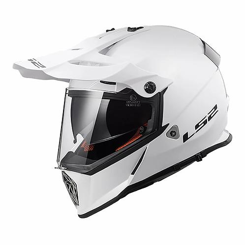 LS2 MX436 PIONEER HELMET - SOLID WHITE