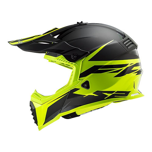 LS2 MX437 FAST EVO - ROAR MATTE BLACK/HI-VIS YELLOW