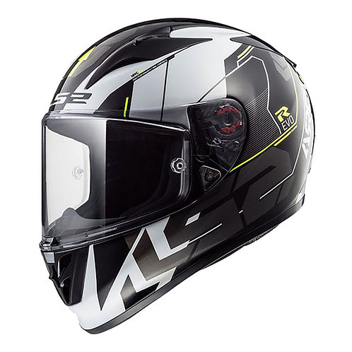 LS2 FF323 ARROW R HELMET - TECHNO BLACK/WHITE