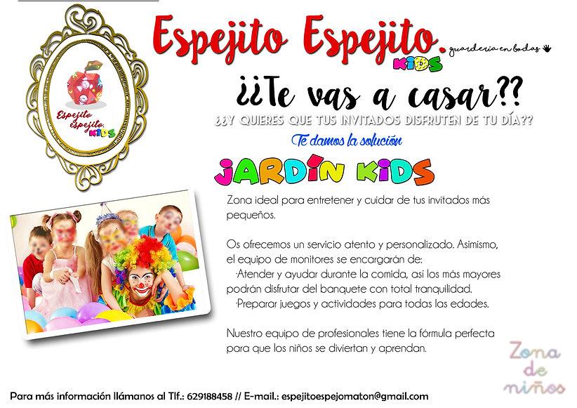 ESPEJITO ESPEJITO. KIDS. JARDIN KIDS