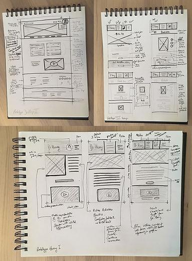 Slide Prototypes Desktop et Mobile Hoang