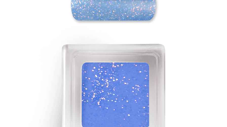 Farb Acryl Pulver - SPARKLING Misty Blue Nr.9