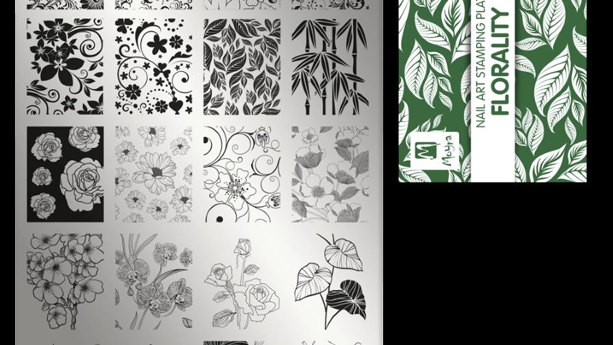 Moyra Stamping Schablone - Florality II Nr.10