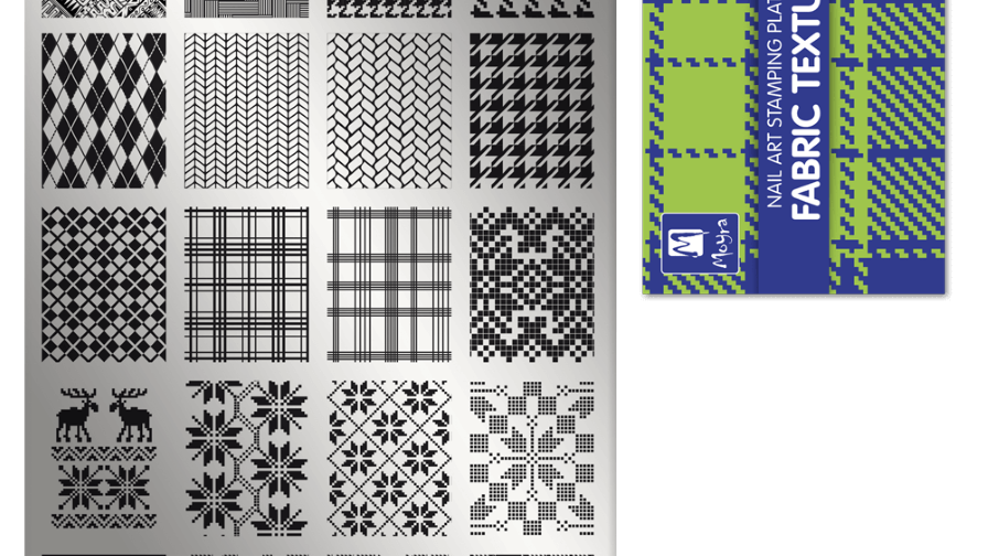 Moyra Stamping Schablone - Fabric Texture Nr.2