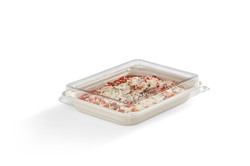 EG-S004-SH LID FOOD 22oz Rectangular Tra