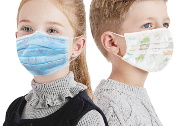 3-ply Children's Protective Disposable Face Mask. Case of 2,500.
