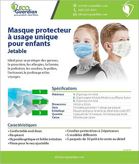 2020-M0129FR Kids Mask SellSheet_FRENCH