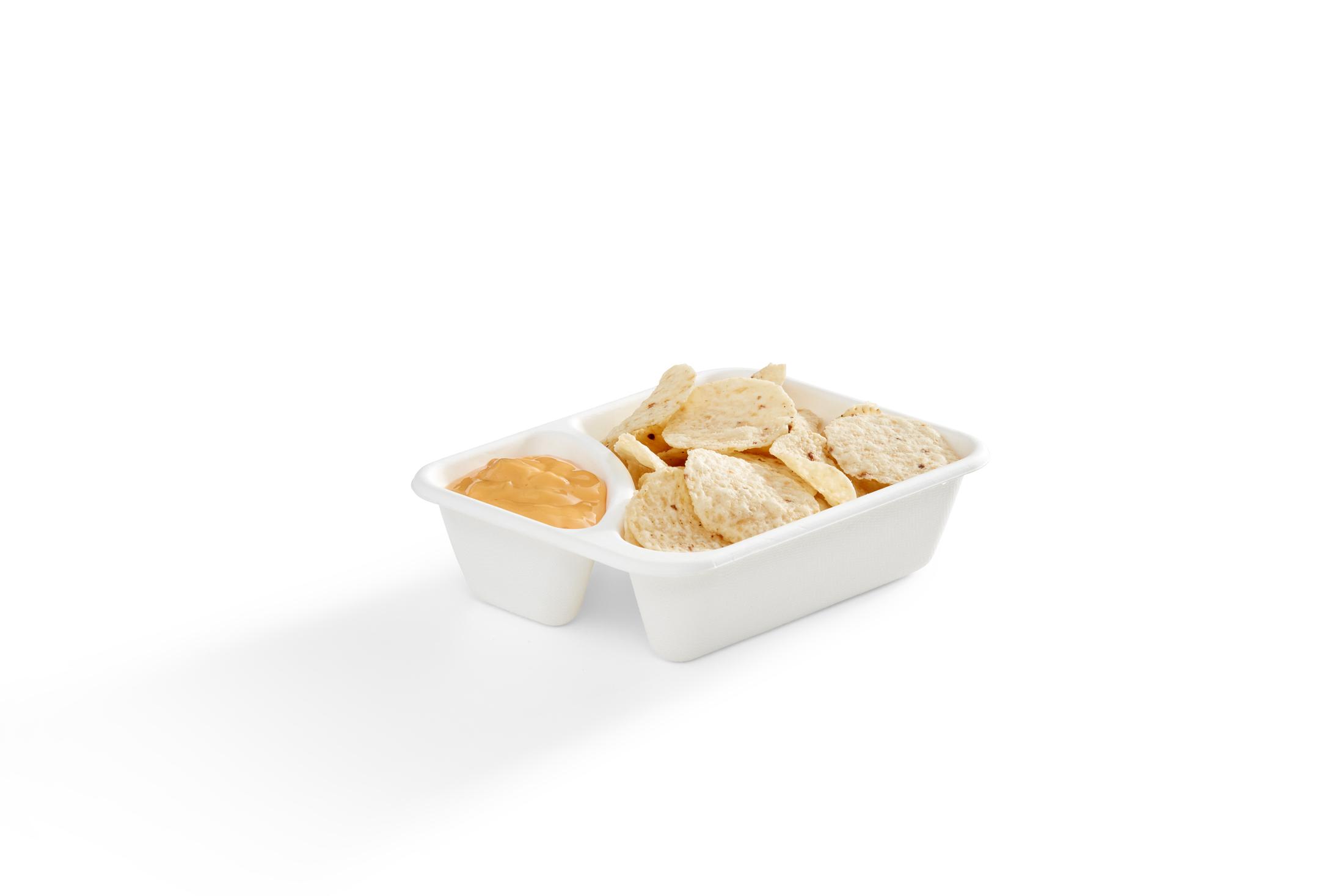 EG-NT-01-W-FOOD 2-Compartment Nacho Tray