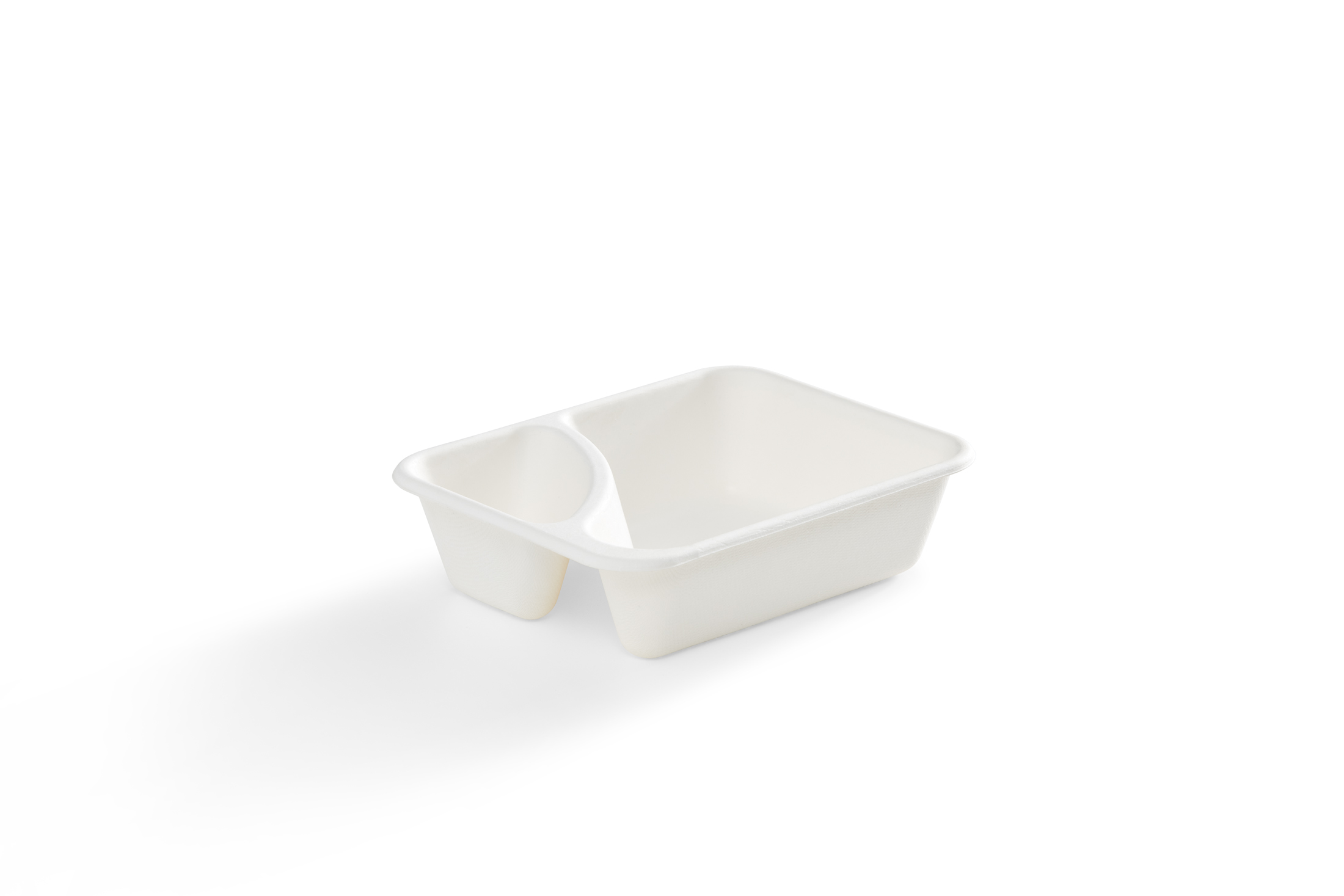 EG-NT-01-W 2-Compartment Tray Bagasse