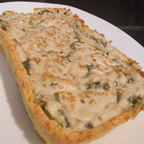 Quiche de espinafre com legumes