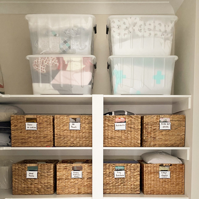 Week 1 - Simple Tips for Organising your Walk in Linen/Closet