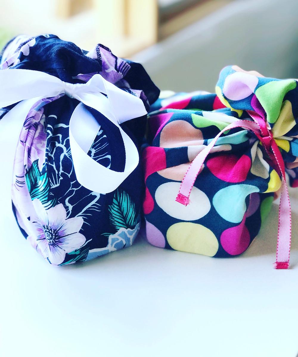 cute fabric gift wrap