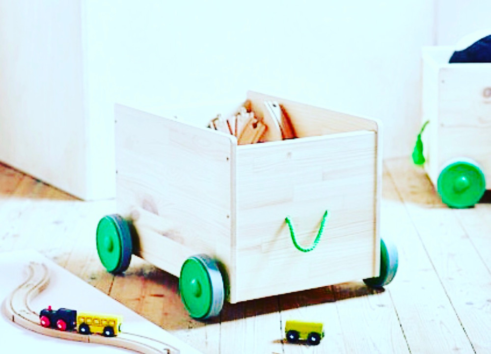 wooden toy storage
