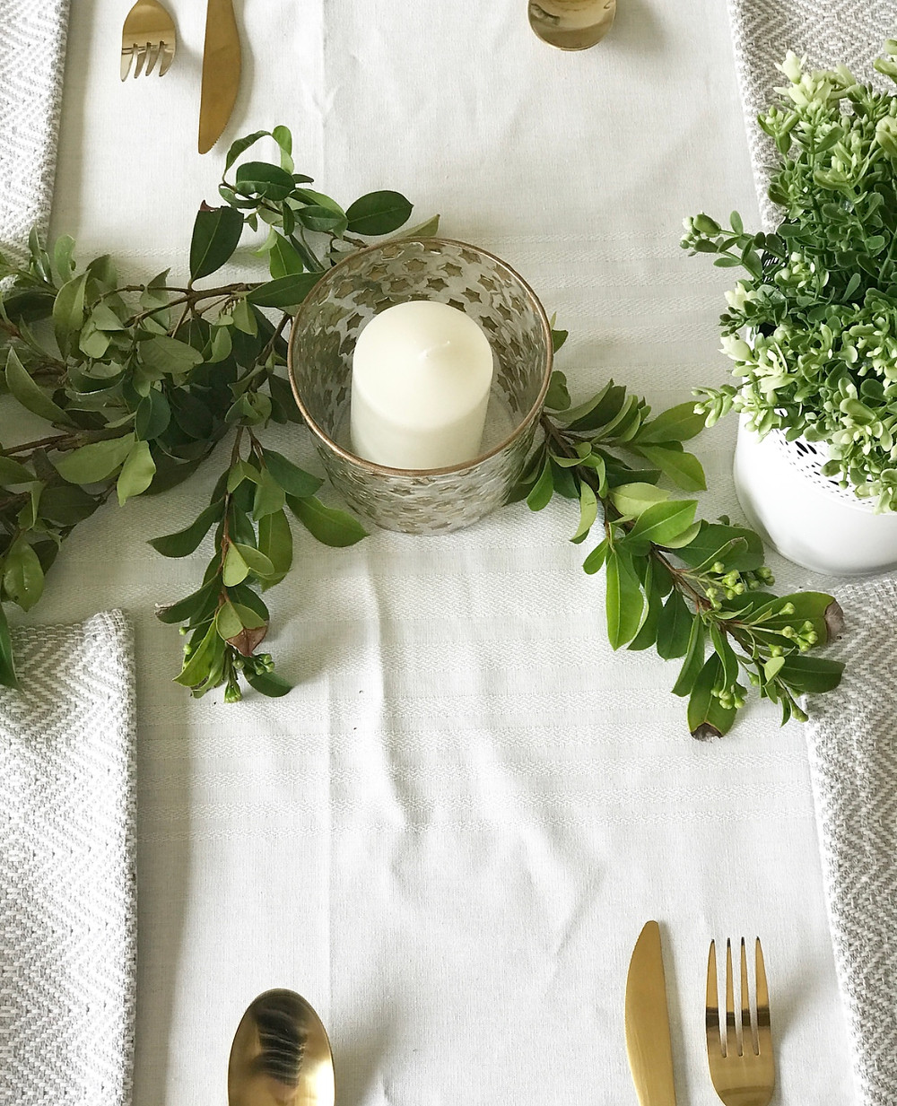 Candles and table decor
